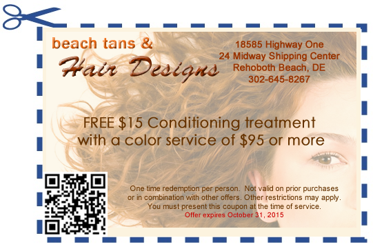 Beach tans hair designs print coupons for House to home designs coupon